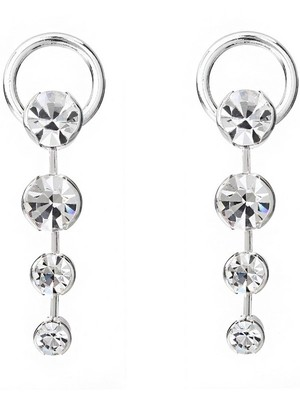 [M.M.D]Chandelier drop earrings (Silver)