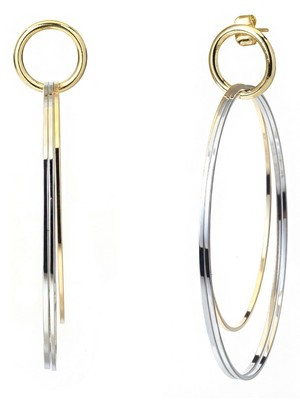 [M.M.D]Doorknob earrings (Gold)