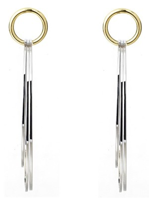 [M.M.D]Doorknob earrings (Silver)