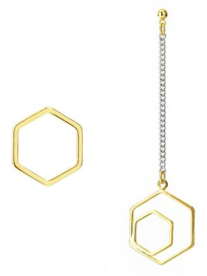 [M.M.D]Double hexagons earrings