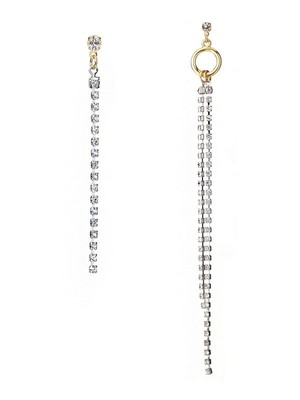 [공민지, 산다라박 착용][M.M.D]Unsymmetrical chain earrings