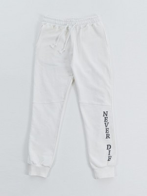 [LIP UNDER POINT] SWEAT PANTS (WHITE)