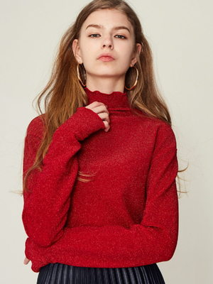 [LARTIGENT] 17W GL TURTLENECK (RED)