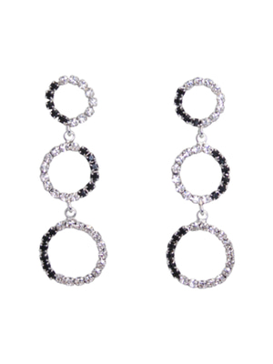 [M.M.D] Circle extension earrings (Black)
