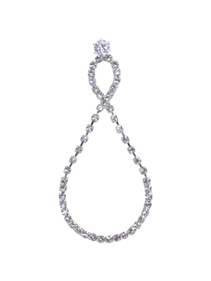 [M.M.D] Swingy cubic pendant earrings (Silver)