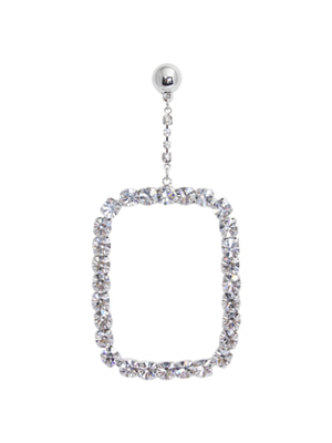 [M.M.D] Cubic square single earring (Silver)