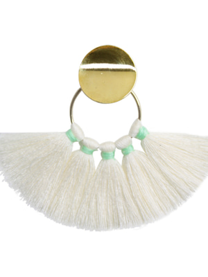 [M.M.D] Sunset tassel earrings (White)