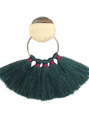 [M.M.D] Sunset tassel earrings (Green)