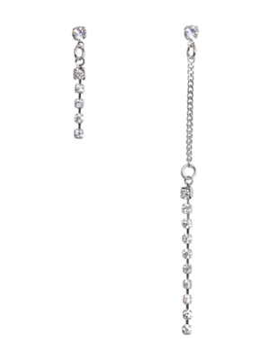 [M.M.D] Unbalanced simple earrings (Silver)