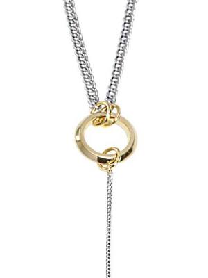 [M.M.D] Unbalanced three links necklace (Gold)