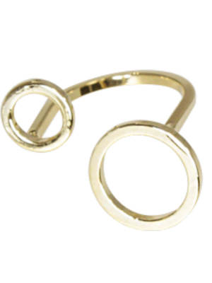 [M.M.D] Double circle ring (Gold)