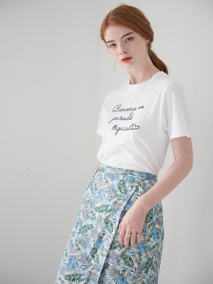 [VEM.VER] TROPICAL WRAP SKIRT
