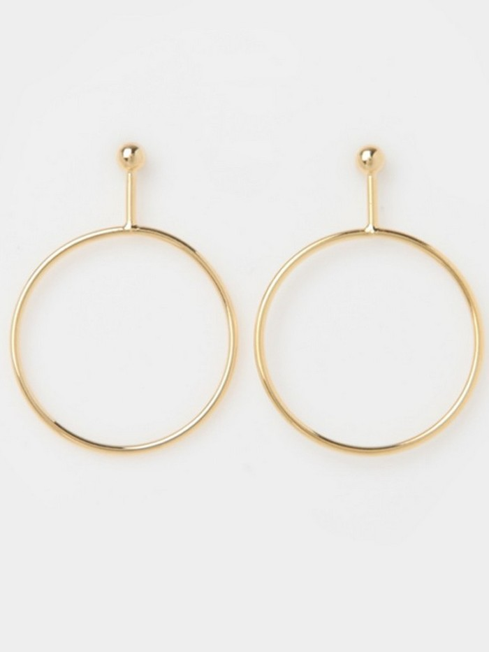 [당일배송][J.GRACELET] Simple Ball Earrings (Gold)