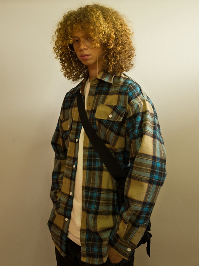 [MAIN BOOTH] 8F Wool Check Shirt (BLUE)